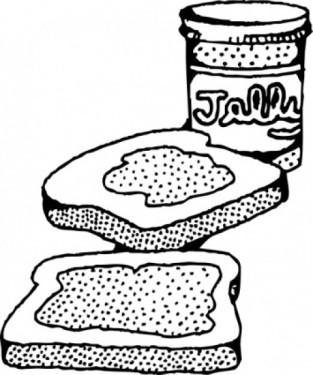Jelly sandwich looks much better than a sh*t sandwich...